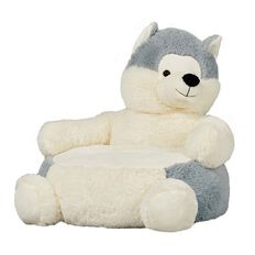 Chair Animal Plush Wolf 48cm