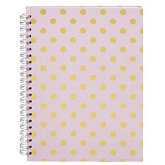 Stylo Happy Place Spiral Notebook with Gold Foil A4