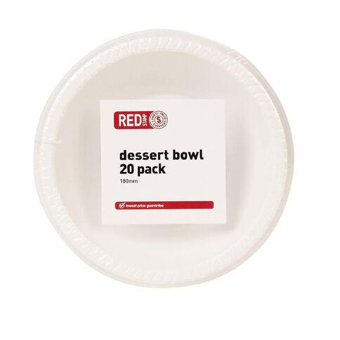 Red Stamp Brand Dessert Bowl White 18cm 20 Pack