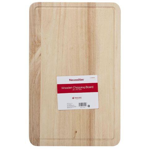 Necessities Brand Wooden Chopping Board 27cm x 43cm x 2cm