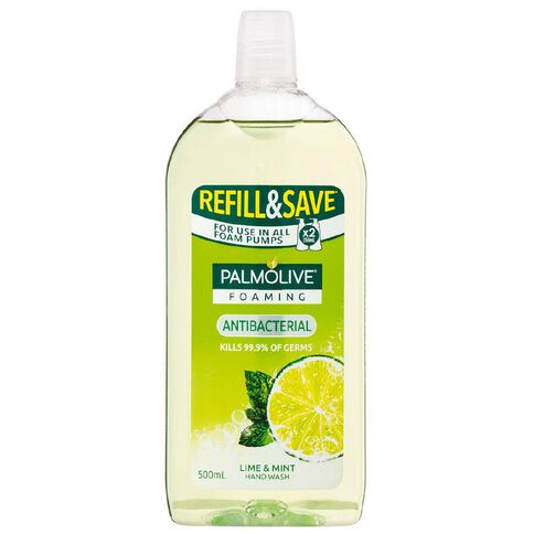 Palmolive Antibacterial Foaming Hand Wash Refill Lime & Mint 500ml