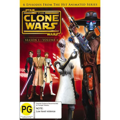 Star Wars The Clone Wars Volume 4 DVD 1Disc