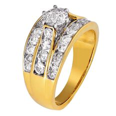 2 Carat of Diamonds 18ct Gold Diamond Fancy Dress Ring