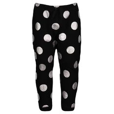 Hippo + Friends Toddler Girl Panel Foil Pants