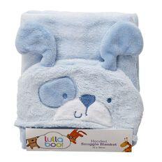 Lullaboo Hooded Snuggle Blanket Boys