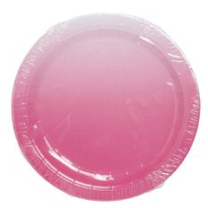 Party Inc Pink Ombre Paper Plates 22cm 16 Pack