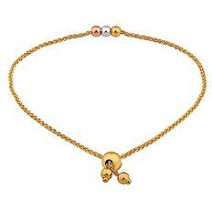 9ct Gold Friendship Bracelet 19cm