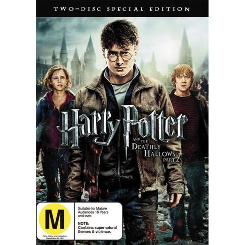 Harry Potter And The Deathly Hallows Part 2 DVD 2Disc