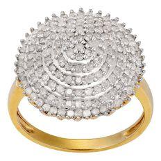 1 Carat of Diamonds 9ct Gold Diamond Pyramid Ring