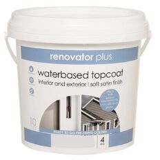 Renovator Plus Soft Satin Paint Perfect White 4L