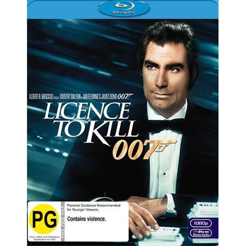 Licence To Kill 2012 Version Blu-ray 1Disc