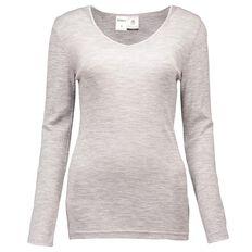 Basics Brand Women's Thermal Merino Long Sleeve Top
