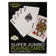 Super Jumbo Playing Cards 20cm x 28cm