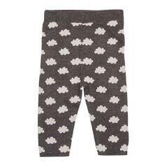 Hippo + Friends Baby Boy Knit Jacquard Pants
