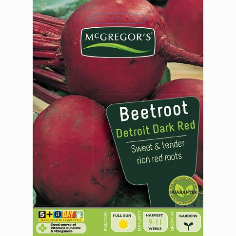 McGregor's Detroit Beetroot Dark Red Vegetable Seeds