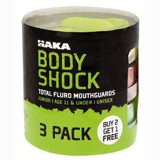 Haka Mouthguard Fluoro Junior 3 Pack