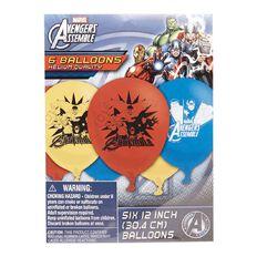 Avengers Marvel Latex Balloons 6 Pack