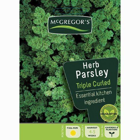 McGregor's Triple Curled Parsley Herb Vegetable Seeds