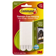 Command Large Picture Hanging Strips White 4 Pack