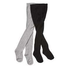 H&H Infants Girls' Cable Rib Tights