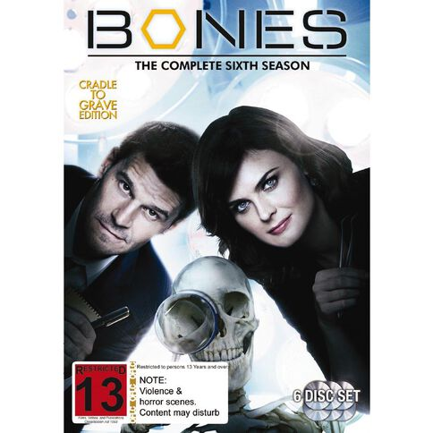 Bones Season 6 DVD 6Disc