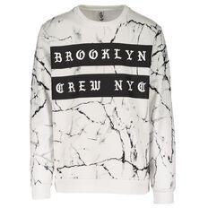 Urban Equip Marble All Over Printed Crew Neck Sweatshirt