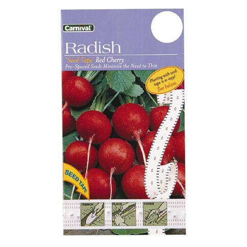 Carnival Seeds Tape Radish Red Cherry