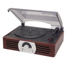 Living & Co Wooden Style Turntable with AM/FM Radio SRO6162