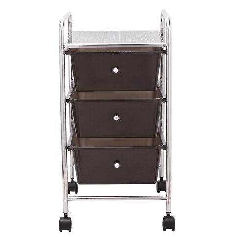 Living & Co Trolley Black 3 Drawer