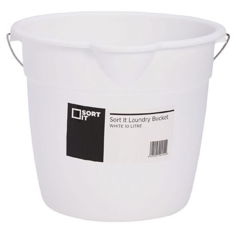Living & Co Laundry Bucket White 10L