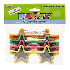 Meteor Novelty Star Style Glasses 4 Pack