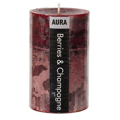 Aura Pillar Candle Berries & Champagne 6cm x 10cm