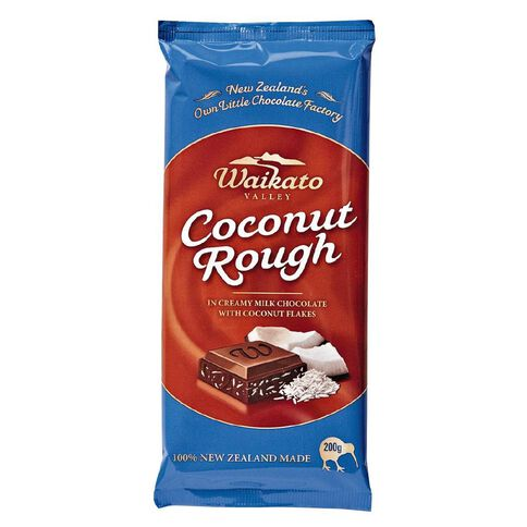 Waikato Valley Chocolates Coconut Rough Tablet 200g
