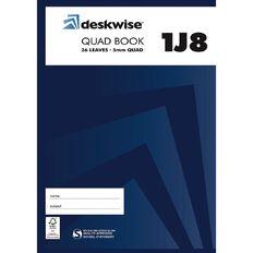 Deskwise Exercise Book 1J8 5mm Quad 36 Leaf