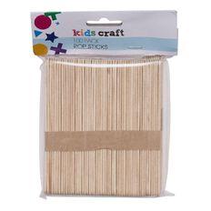 Kids' Art & Craft Pop Sticks Natural 100 Piece