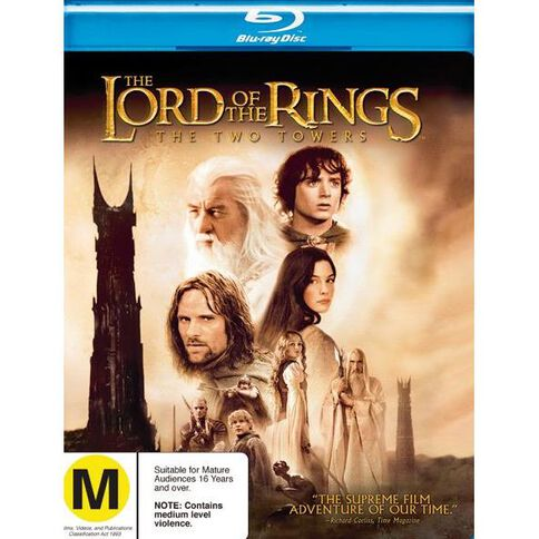 Lord of the Rings The Two Towers Blu-ray 1Disc