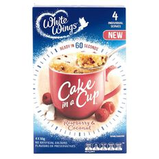 White Wings Cake in a Cup Raspberry Coco 220g