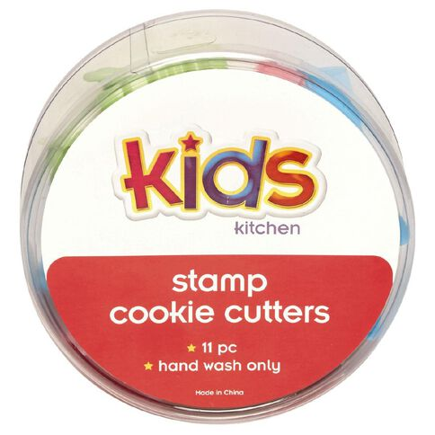 Kids Kitchen Stamp Cookie Cutters 11 Piece