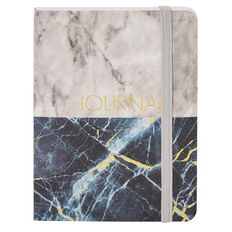 Stylo Marble Hardcover Notebook with Gold Foil A6