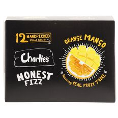 Charlie's Honest Fizz Orange & Mango 12 Pack 350ml