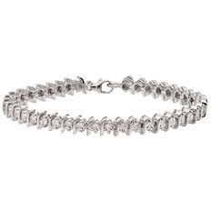 1/4 Carat of Diamonds Sterling Silver Tennis Bracelet