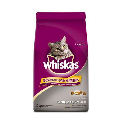 Whiskas Senior Cat Long Life Senior Formula 7 Years + 1.5kg
