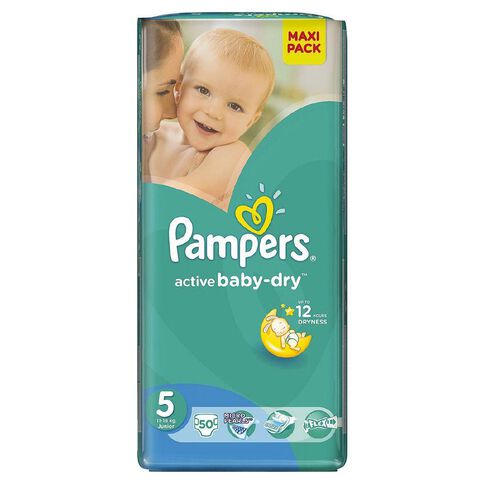Pampers Nappies Size 5 50 Pack 11 - 18kg
