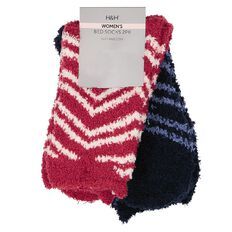 H&H Women's Microfibre Bed Socks 2 Pack