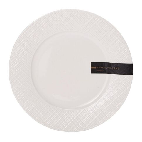 Harrison & Lane Prem Coupe Embossed Side Plate White