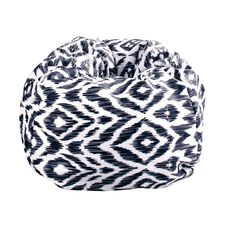 Living & Co Bean Bag Cover Navy Print 200L