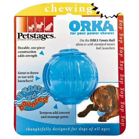 Petstages Orka Tennis Ball Chew Toy