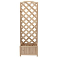 Climbing Trellis Box Planter Natural 135cm