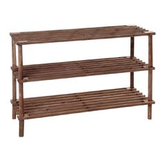 Living & Co Wooden Shoe Rack 3 Tier