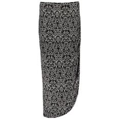 Maya Drape Front Maxi Skirt